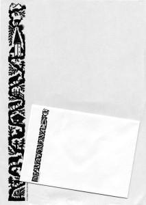 Briefpapierset mit Couvert